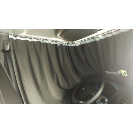 Zasłony kabiny, szaro-czarne